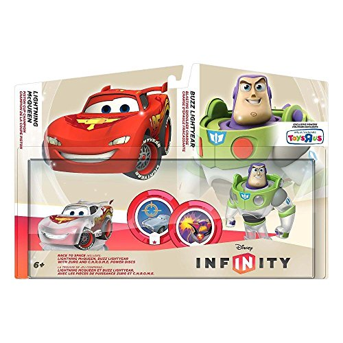 Disney Infinity Race to Space Pack Crystal Mcqueen Buzz Lightyear