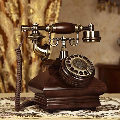 YUBIN Estilo Antiguo con Cable Línea Fija Teléfono Antiguo Teléfono Antiguo, Fijado DISTAL Teléfono Vintage Clásico Retro Retro Teléfono Fijo Cordon, para Home Hotel Office Decor Teléfono