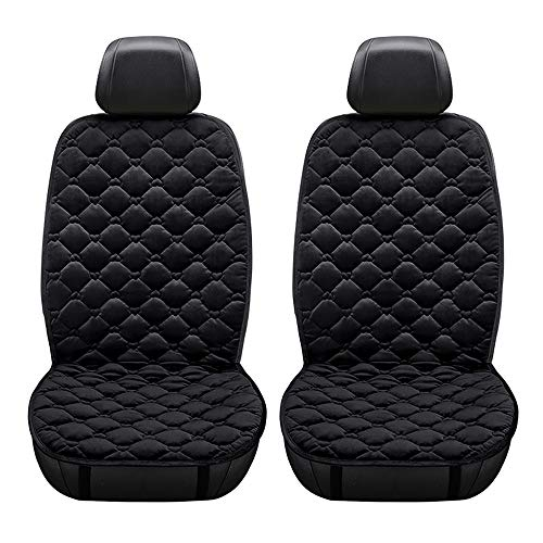 KKmoon Sitzheizung Auto Heizkissen 12V Beheizte Sitzauflage mit Zeit Temperatur Kontrolleur Universal Heizauflage schwarz für Auto Haus