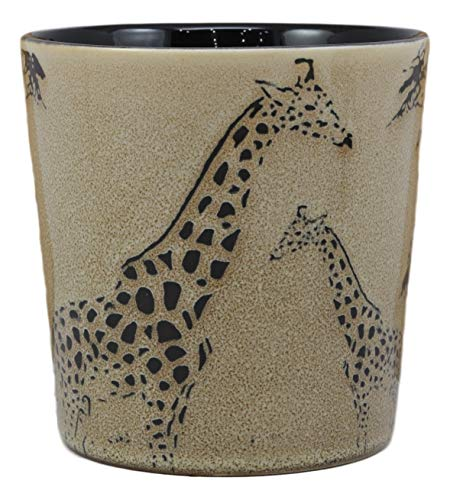 Ebros Savanna Wildlife Mother Giraffe And Calf Family Drinking Beverage Ceramic Mug 16oz Drink Coffee Cup Safari Themed Glazed Earthenware Kitchen And Dining Accessory Decor For Giraffes