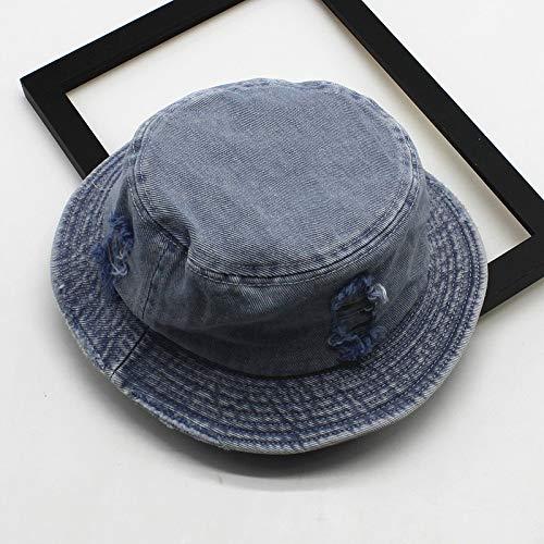 JXFM Pure katoen licht plaat wastafel cap vrouwelijke oude gat gewassen visser hoed lente en zomer opvouwbare zonnebrandcrème platte top hoed tij
