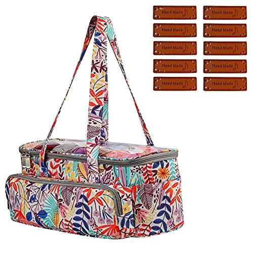MISSFOX Bolsa de almacenamiento para lana, bolsa para tejer hecha a mano, bolsa de ganchillo...