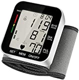 Digital Wrist Blood Pressure Monitors, LCD Display, Fully Automatic Accurate Diqital Wrist BP Machine with Voice Broadcast, Automatic Accurate 2x99 Reading Memory for Home Use (Black)