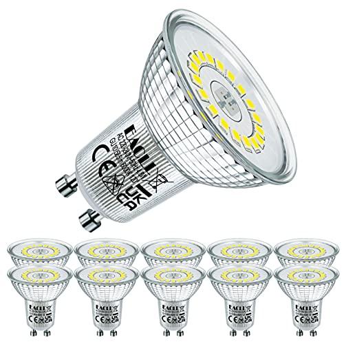 EACLL Bombillas LED GU10 6000K Blanco Frio 4.8W Fuente de Luz 585 Lúmenes Equivalente 50W Halógena. AC 230V...