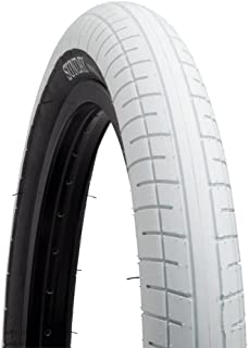 Sunday Street Sweeper Tire 20 x 2.4 White with Black Side Wall