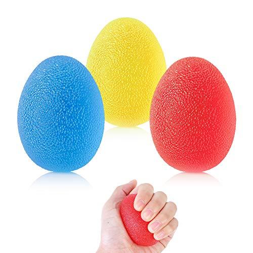 3 Stück Handtherapie-Bälle Hand Therapie Übung Ball Therapie Handbälle Finger Exerciser Griffbälle mit 3 Verschiedenen Widerstandsstufen, für Arthritis, Griffstärkung und Stressabbau