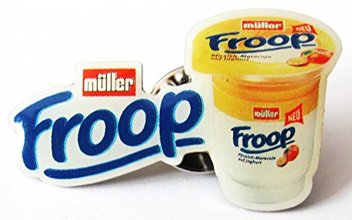 Müller Milch - Froop Pfirsich-Maracuja - Pin 36 x 22 mm