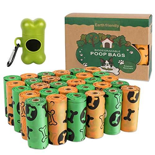 Sacchetti per Cani,450 pezzi/30 Rotoli Dog Poop Sacchetti,Dog Sacchetti di Rifiuti con Dispensers,Extra Spesso a Prova di perdite Dog Poo Bags