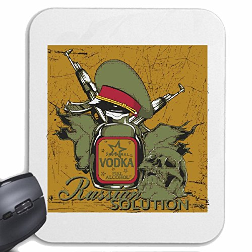 Mousepad (Mauspad) RUSSIAN SOLUTION VODKA ALKOHOL RUSSLAND RUSSEN ARMEE BUNDESWEHR NEW YORK CITY AMERIKA CALIFORNIA USA ROUTE 66 BIKERSHIRT NY MOTORCYCLE NYC LIBERTY VEREINIGTE STAATEN BRON
