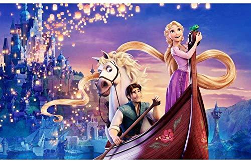 Pintura de diamante 5D , pintura de diamantes de imitación de dibujos animados, pintura de diamantes de imitación, decoración de pared del hogar (princesa Aisha y princesa Anna30×40cm)