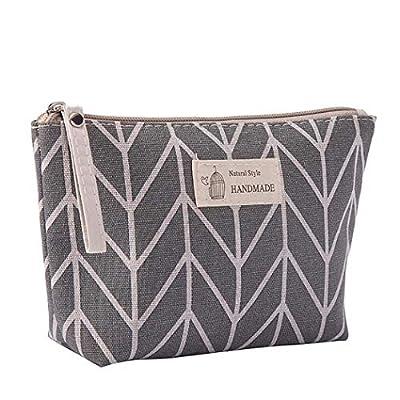 Amazon - Save 80%: Cosmetic Bag – Portable Large Capacity Makeup Bag, Cotton Linen Multifu…