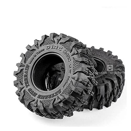 UJETML (H) Neumáticos RC Crawler 2pcs 1.9 Neumáticos de Lodo de Lodo para 1:10 RC Rock Crawler SCX10 SCX10 II 90046 90047 0 0 Accesorios para automóviles TRX4 Neumáticos RC Slash 4x4 Neumáticos