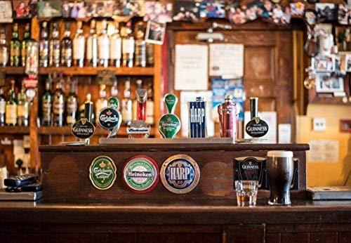 liliyda Puzzle 1000 Pezzi di Puzzle in Legno Bar Irlandese Whisky Acqua di Rubinetto Birra Giocattoli Educativi per Adulti Decorazione...