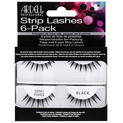 ARDELL 6 Pack Natural Demi Pixies Black Faux-cils