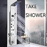 JunSheng Panel columna ducha sistema ducha de alta calidad de acero inoxidable con indicador de temperatura LED ducha...