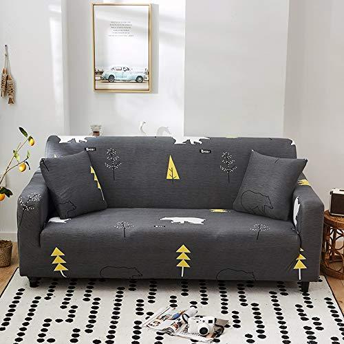 NOBCE Sala de Estar Funda de sofá de Esquina Funda elástica Funda de sofá Toalla de sofá elástica 90-140CM