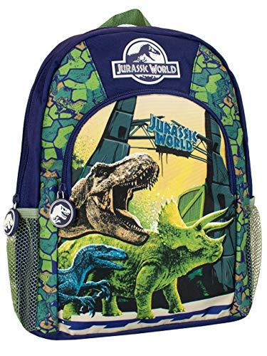 Jurassic World Mochila para Niños Dinosaurios Azul