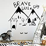 HNXDP 3D Brave Bear Wall Stickers Autoadhesivo Art Wallpaper para habitaciones...