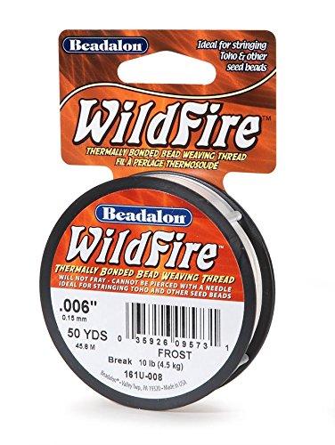 Beadalon Wildfire .006-Zoll 50 m, für Schmuckanwendung, Frost