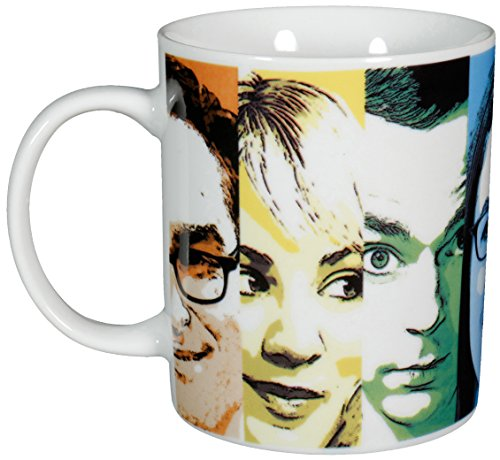 "Big Bang Theory The Faces"", Porzellan, 320ml – 0122072 Kaffeetasse, weiß, 12 x 7.5 x 9.3 cm"