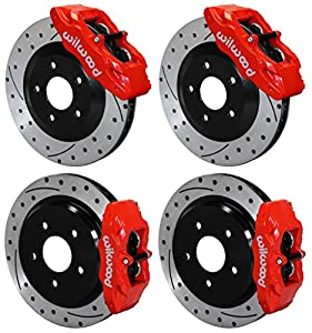 NEW WILWOOD RED FRONT & REAR DISC BRAKE KIT FOR 97-13 CORVETTE C-5 C-6 Z06, CALIPERS, ROTORS, PADS, 1997 1998 1999 2000 2001 2002 2003 2004 2005 2006 2007 2008 2009 2010 2011 2012 2013