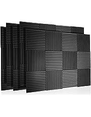 """60 Pak akoestische panelen Foam Geluiddichte wiggen Wall Tegels Padding Studio Fireproof Muurschuim voor het absorberen van geluid op muren, 1"""" x 12"""" x 12"""""""