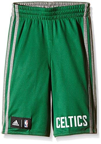 adidas Pantaloncini da Bambino Winter Hoops Double-Face, Multicolore (Verde-Bianco), 128
