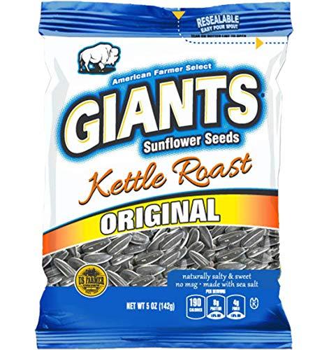 GIANTS Kettle Roast Salty Sweet Flavored Sunflower Seeds, 12 packs - 5 oz. bags