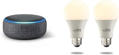$75 » Echo Dot (3rd Generation) - Charcoal with 2 Bulbrite Solana SMART LED Wifi Light Bulbs