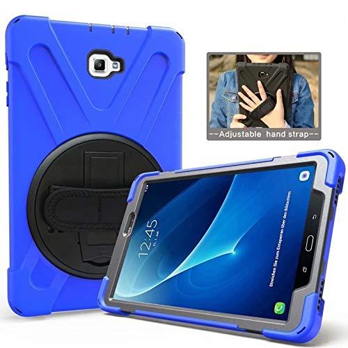 QiuKui Tab Funda para la lengüeta Un A6 10.1' 2016 SM-P580 P585, Caso del Soporte para Trabajo Pesado de Silicona Hombro Correa Larga para el Samsung Galaxy Tab Una A6 con la S Pen (Color : Blue)