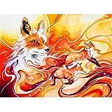 Hoseten Digital Painting Dream Fox DIY Oil Painting Set 40*50CM Canvas Frameless Home Decoration Acrylic Modern Art Painting.