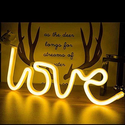 Love Luz de neón Letreros de neón de amor Letreros de luz de neón Letreros de amor LED para regalo de San Valentín Habitación de niñas Habitación de niños Letrero de neón para pared
