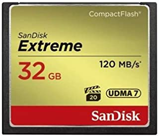 SanDisk Extreme 32GB Compact Flash Memory Card UDMA 7 Speed Up To 120MB/s SDCFXS-032G-A46
