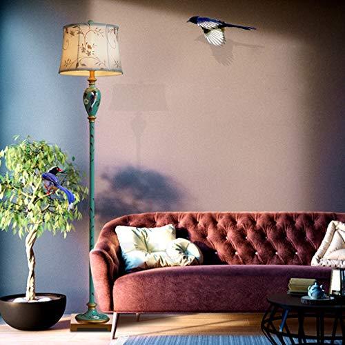 Lampadaires- Américain Intelligent Télécommande Plancher Salon Chambre Chambre Chevet Simple Vertical Table Lampe Européenne Haute Transparent Résine Lampe De Lecture Taille 152 cm * 35 cm