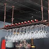 Soporte para copa de vino para colgar en el techo, para copas de vino, copas de vino, soporte para copas de champán, 30 cm