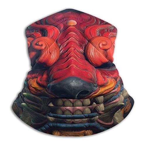 Neck Gaiter Face Mask Reusable, Cloth Face Masks Washable Bandana Face Mask, Oni Tiger Demon Protection Cover Balaclava Scarf Shield
