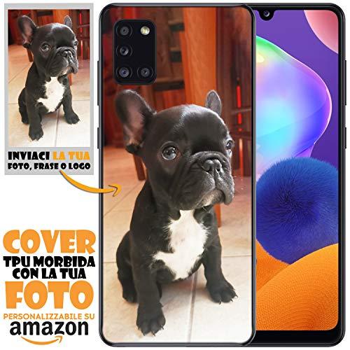 N NEWTOP Cover Custodia per Samsung TPU Morbida Personalizzata con Tua Foto Immagine Scritta Stampa Altissima qualità Fotografica Processo UV (per Galaxy A31)