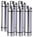 Rosenstein & Söhne Luftbefeuchter Edelstahl: 6er-Set Edelstahl-Wasserverdunster für Heizkörper (Wasserverdunster Heizung)