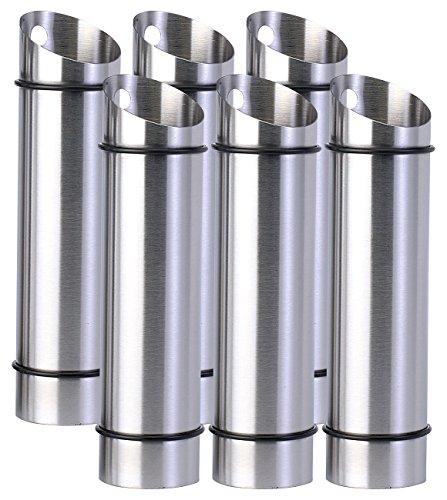 Rosenstein & Söhne Luftbefeuchter Edelstahl: 6er-Set Edelstahl-Wasserverdunster für Heizkörper (Verdunster)