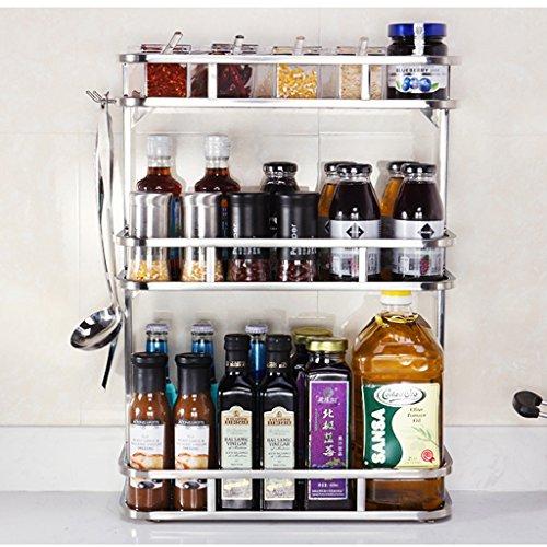KUN PENG SHOP Acier inoxydable plus épais Racks de stockage à trois étages Racks de cuisine A+ (taille : 50 cm)