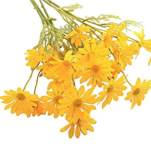 5pc Simulation Small Daisy, Daisy Artificial Flower, 5 Cosmos Decoration Props Simulation Flower, Used for Home Table Decoration (Yellow)