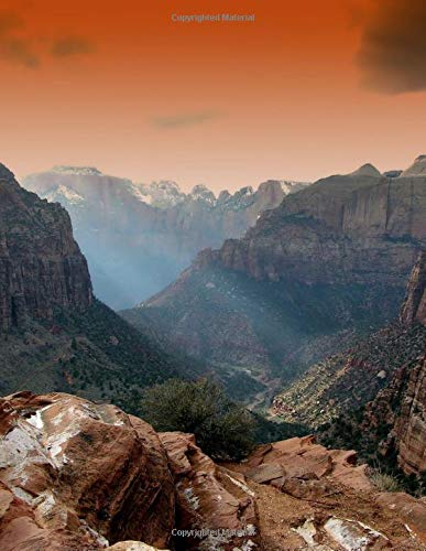 Zion National Park Utah Travel Journal: 8.5 x 11 Glossy Softcover 150 Lined Pages Large Size Journal