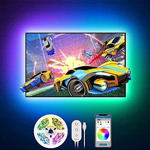 Govee Tiras LED TV 2m, Luces LED RGB Retroiluminación con Control App, 16 Millones Colores y 7 Modo Escenas, para TV y...