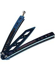 Andux Zone - Cuchillo de mariposa de entrenamiento de acero inoxidable con agujeros CS/HDD29