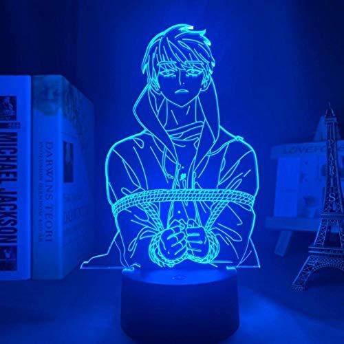 A-Generic Ilusión Visual 3D 7 Colores Control Remoto Luz Nocturna Oficina en casa Habitación para niños Decoración temática