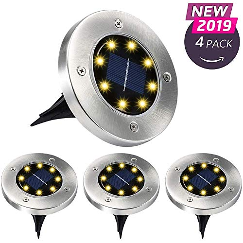 Aogist Solar Ground Lights,Solar Powered Disk Lights