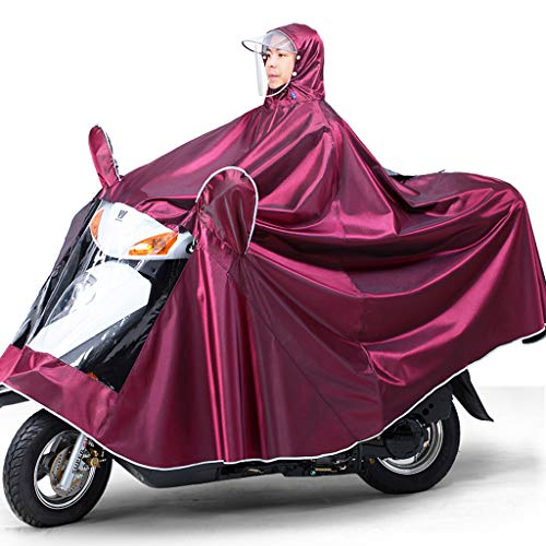 Electric Mobility Scooter Motorfiets Grote Rain Cape Coat, Om Te Fietsen, Hardlopen, Unisex - Hooded Compact Rain Cape,Jujube,4XL
