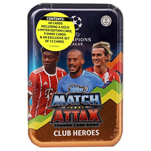 Topps Match Attax - UEFA Champions Leage Mega Tin - con 60 Cartas - 2017/18