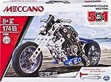 Meccano - Juego de 5 Modelos de Moto, Piezas de Metal, 174, 6036044.