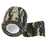 Ballylelly Camuflaje elástico Impermeable Caza al Aire Libre Camping Stealth Camo Wrap Tape Military Airsoft Paintball Stretch Vendaje